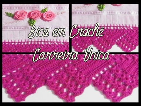 Bico Em Croche Carreira Unica Beak In Single Crochet Career