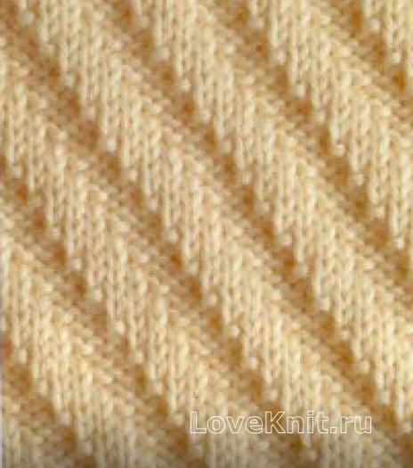 Вязание спицами гладь схема 73
