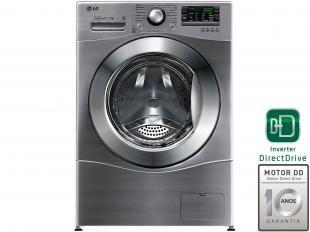 Lava e Seca LG WD1412RT7 10,2kg Inox Água Quente - 14 Programas de Lavagem Painel Touch