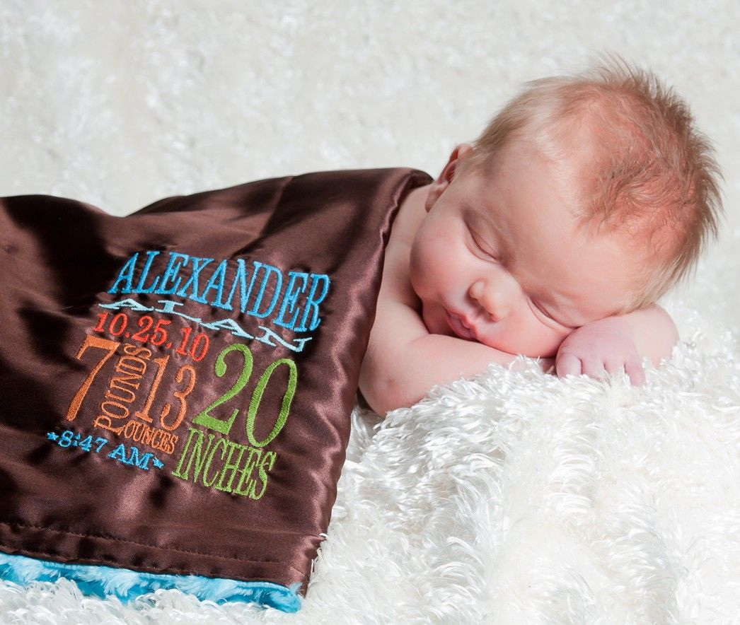 Personalized little fluffy blanket minky satin birth stats personalized little fluffy blanket minky satin birth stats embroidery newborn gift photo prop baby blanket negle Images