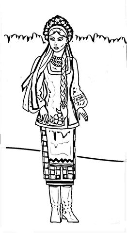 Ukrainian Woman Coloring Page Free Printable Coloring Pages Coloring Pages Free Printable Coloring Pages Ukrainian Women