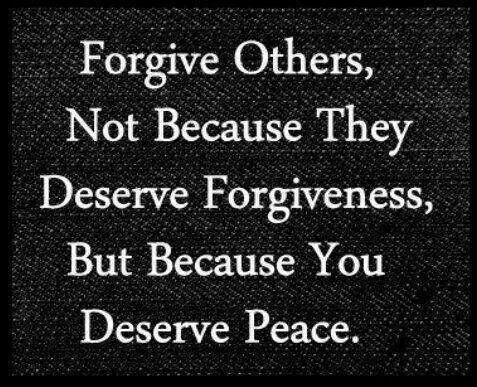 Forgive then forget