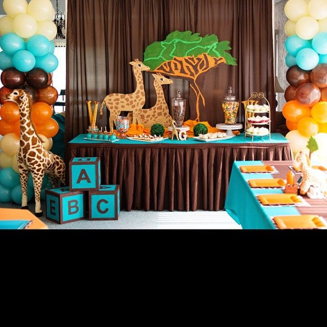 Lion Baby Shower Ideas: Coming To America Themed Baby Shower