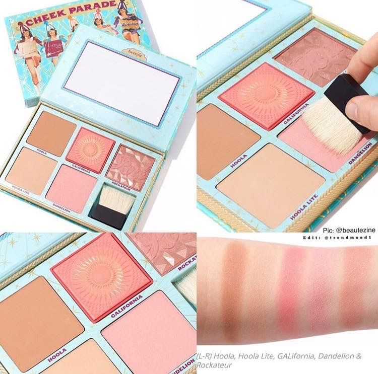 The Cheek Parade bronzer and blush palette by Benefit Cosmetics ...