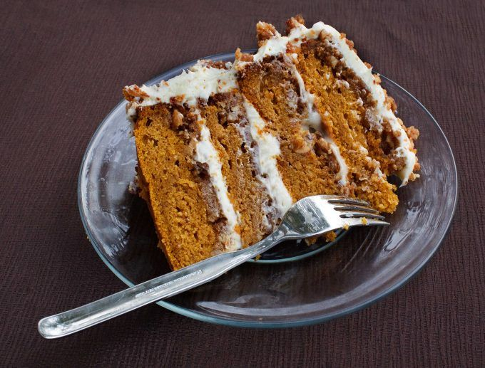 Great pumpkin crunch cake with cream cheese frosting