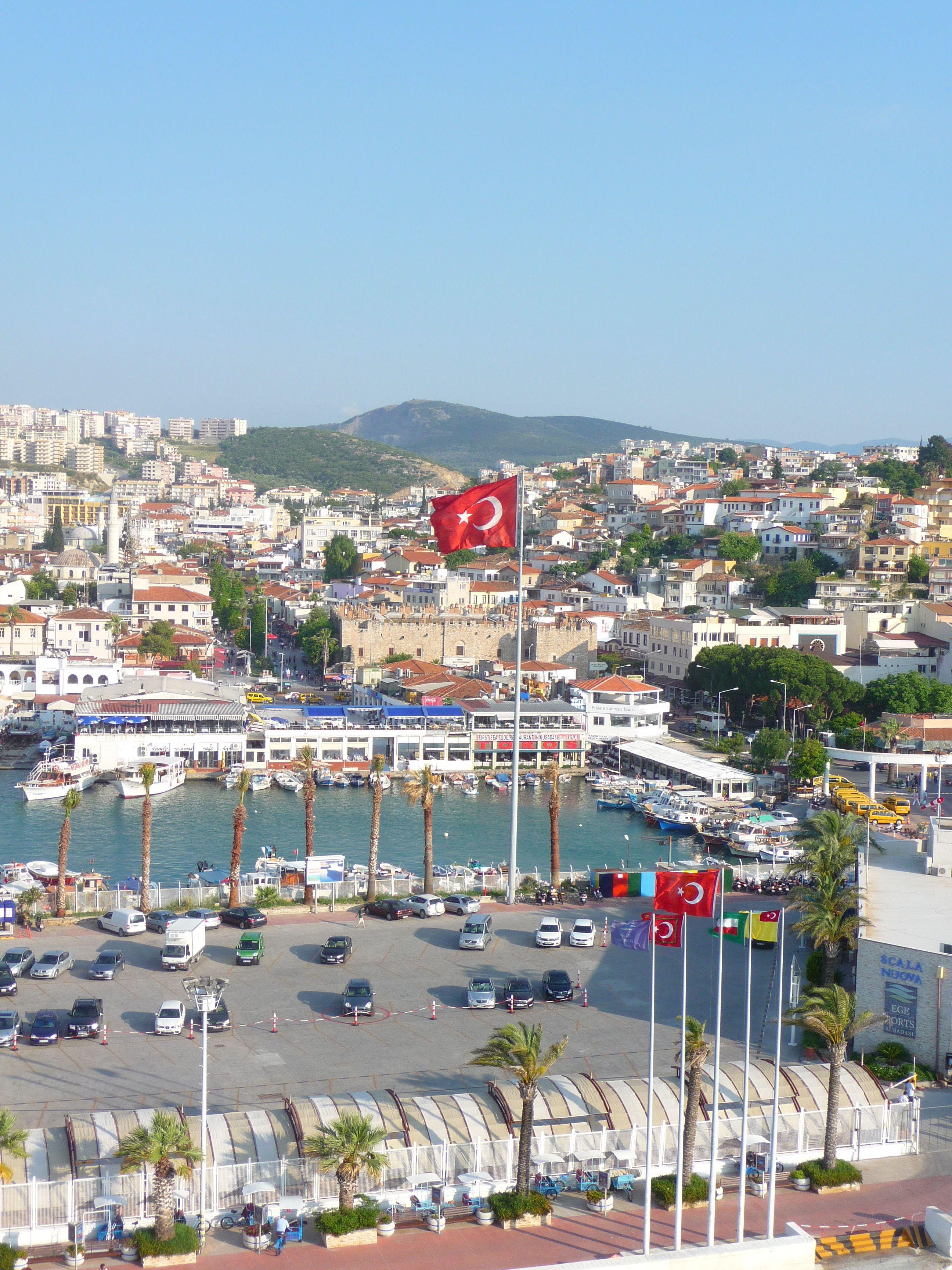 The port of kusadasi our travels kusadasi ephesus turkey pinterest kusadasi cruises - Ephesus turkey cruise port ...