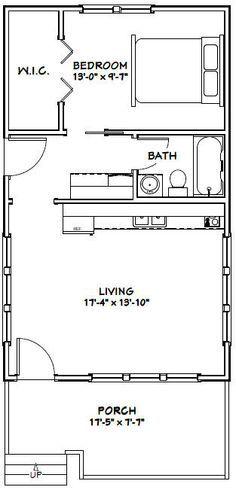 18x30 tiny house 18x30h1 540 sq ft excellent for Innendekoration studium
