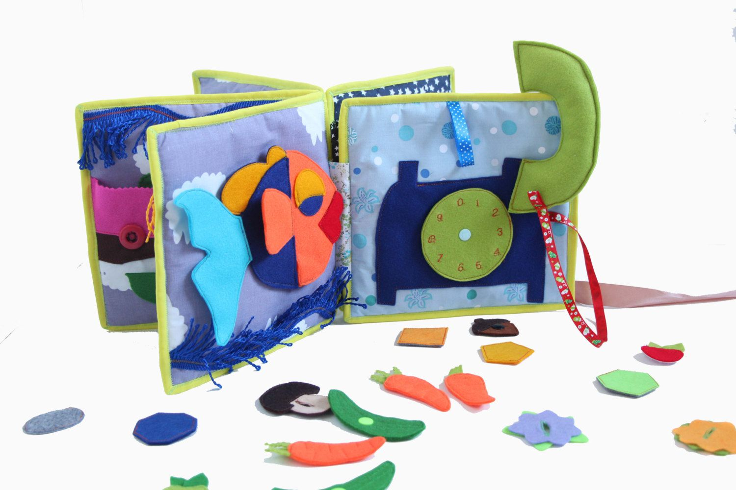 soft book toddlers quiet book activity book felt toys educational toys
