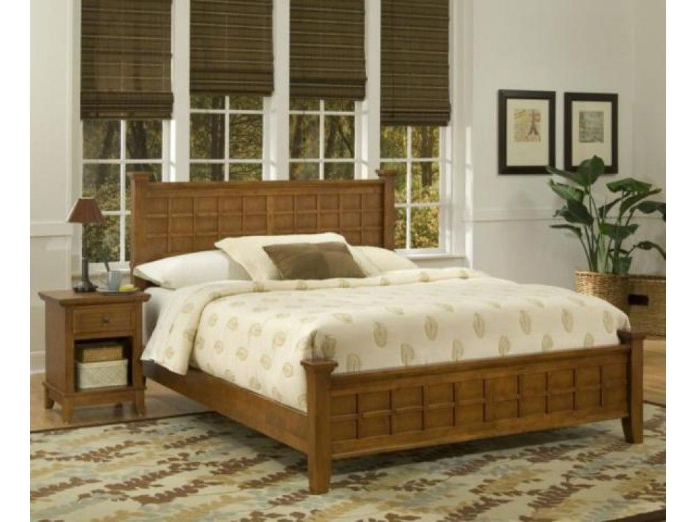 Queen Bed & Night Stand in Cottage Oak $799