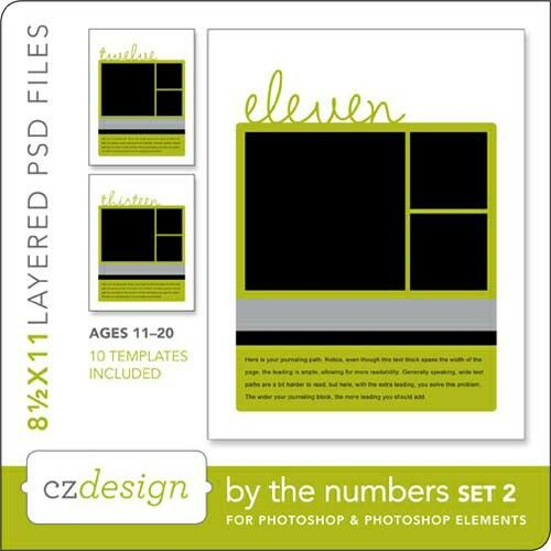 By The Numbers Layered Template Set No. 02 - Digital Scrapbooking ...