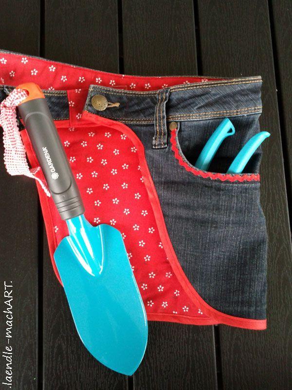 jeans upcycling recycling jeans g rteltasche gartenwerkzeug tasche f r gartenwerkzeug. Black Bedroom Furniture Sets. Home Design Ideas