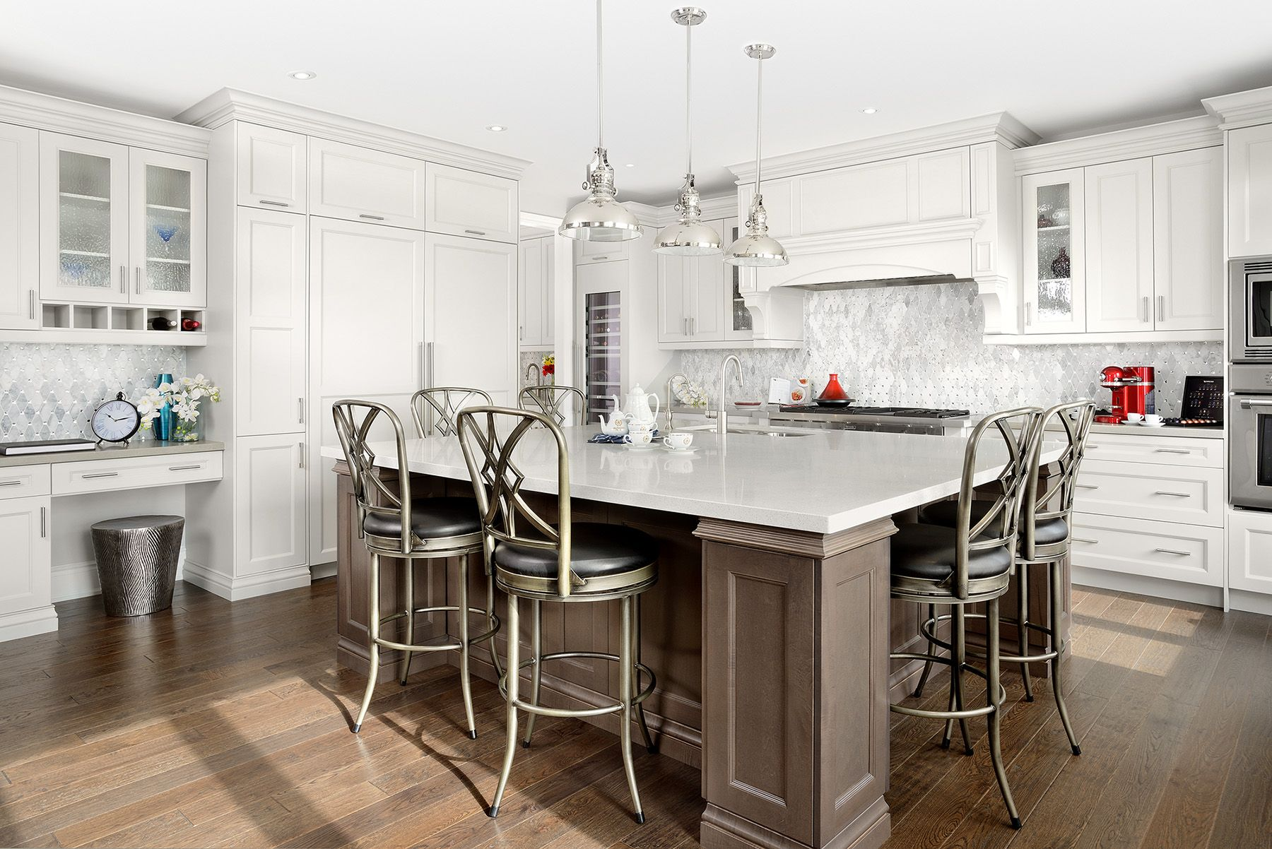 Transitional Light Grey Kitchen Cabinets With Grey Stained Maple - Light grey stained kitchen cabinets
