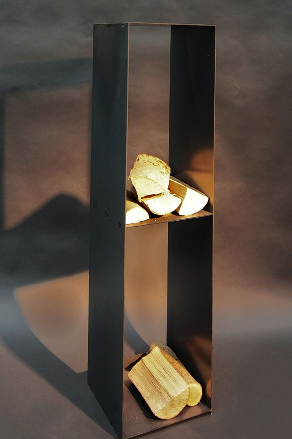 Kaminholzregal aus rohem Stahlblech  firewood racks  Kaminholz Regale in 2019  Pinterest
