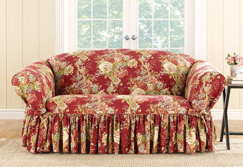 Brilliant Ballad Bouquet By Waverly One Piece Loveseat Slipcover Pdpeps Interior Chair Design Pdpepsorg