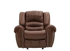 Cole Leather Match Glider Recliner Recliner Power Recliners Leather Recliner