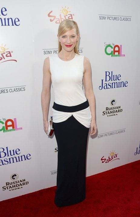 Cate Blanchett arrives at the premiere of 'Blue Jasmine' hosted by AFI & Sony Picture Classics at AMPAS Samuel Goldwyn Theater on July 24, 2013 in Beverly Hills, California.