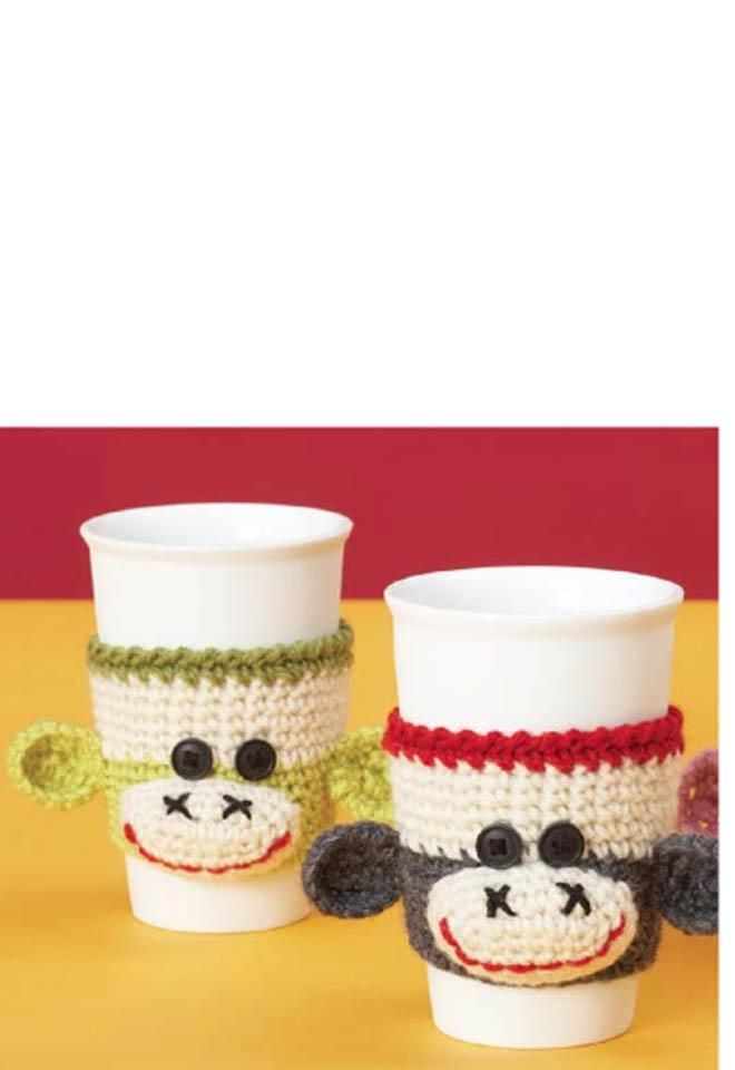 Classic Wool - Cup Cozy   cre8time.org Crochet pattern located on ...