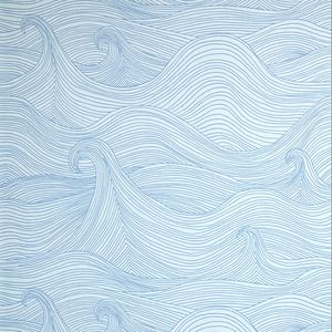 love this wallpaper for small beach cottage room-laundry