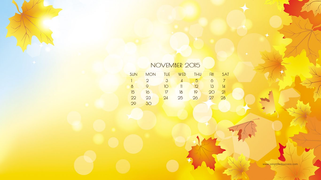 iPhone Wallpaper November 2015 calendar | November Calendar HD ...