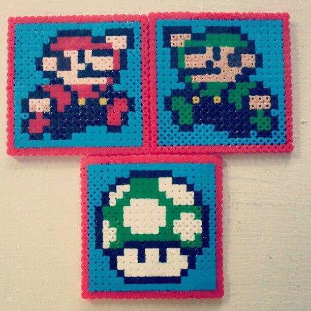 Mario fuse bead coasters