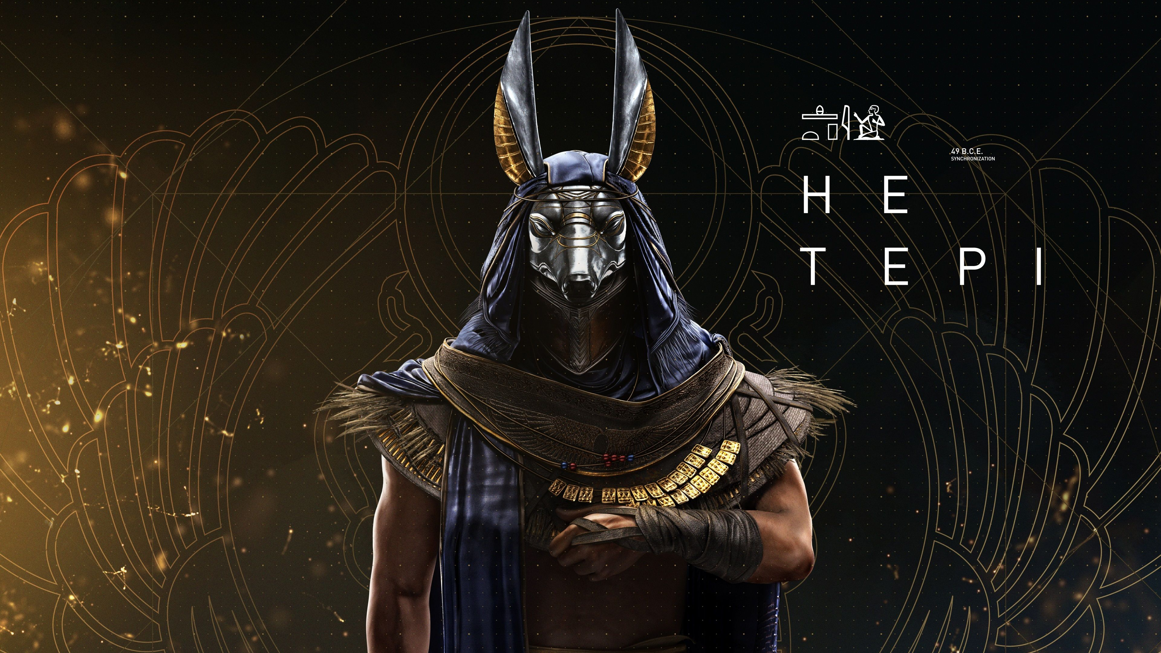 3840x2160 Hetepi 4k Pictures For Computer Anubis Assassins Creed Assassins Creed Origins
