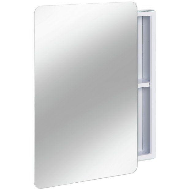 buy hygena sliding door mirror bathroom cabinet - white at argos