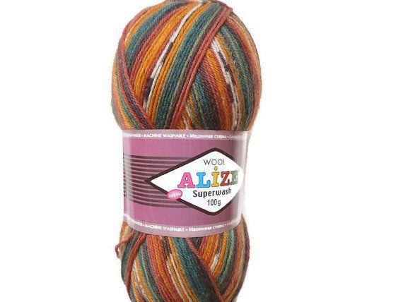 Sock yarn sale Superwash Sock Yarn Alize Boho yarn by Solviashop
