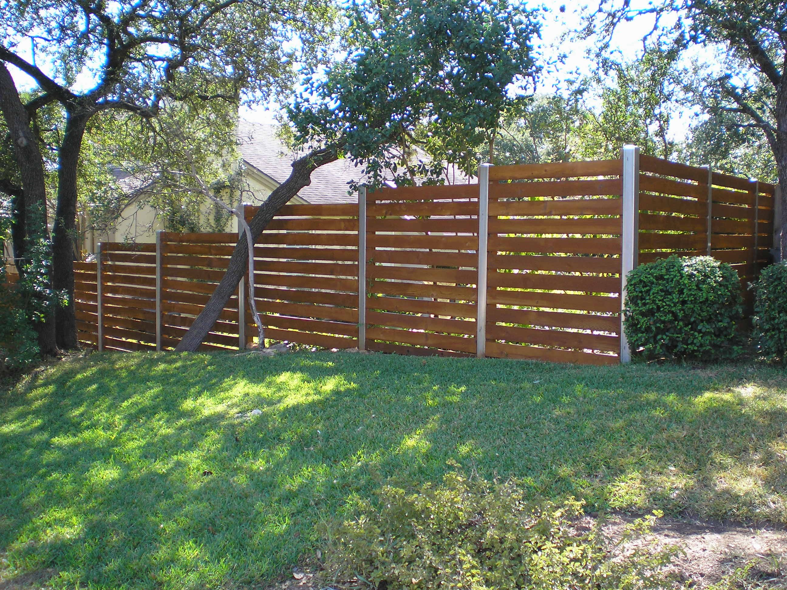 wood fences gallery viking fence horizontal semi privacy with