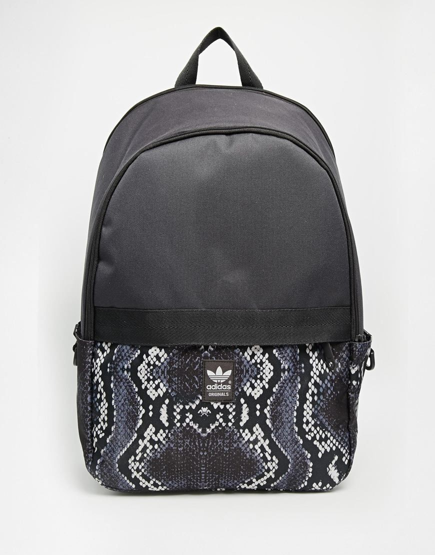 adidas Originals Backpack with Snake Skin Contrast Print  221c4bff6e49a