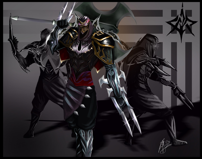 ninja zed league of legends wallpaper aleonserade