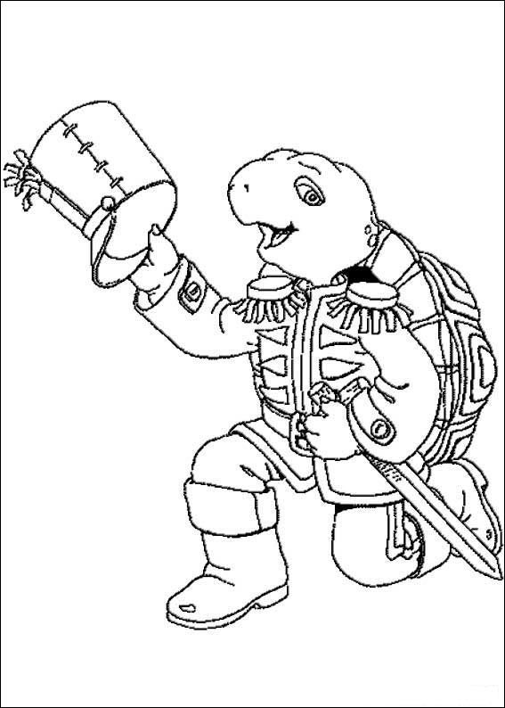 Coloriage Dessins Franklin 32 Turtle Coloring Pages Cute