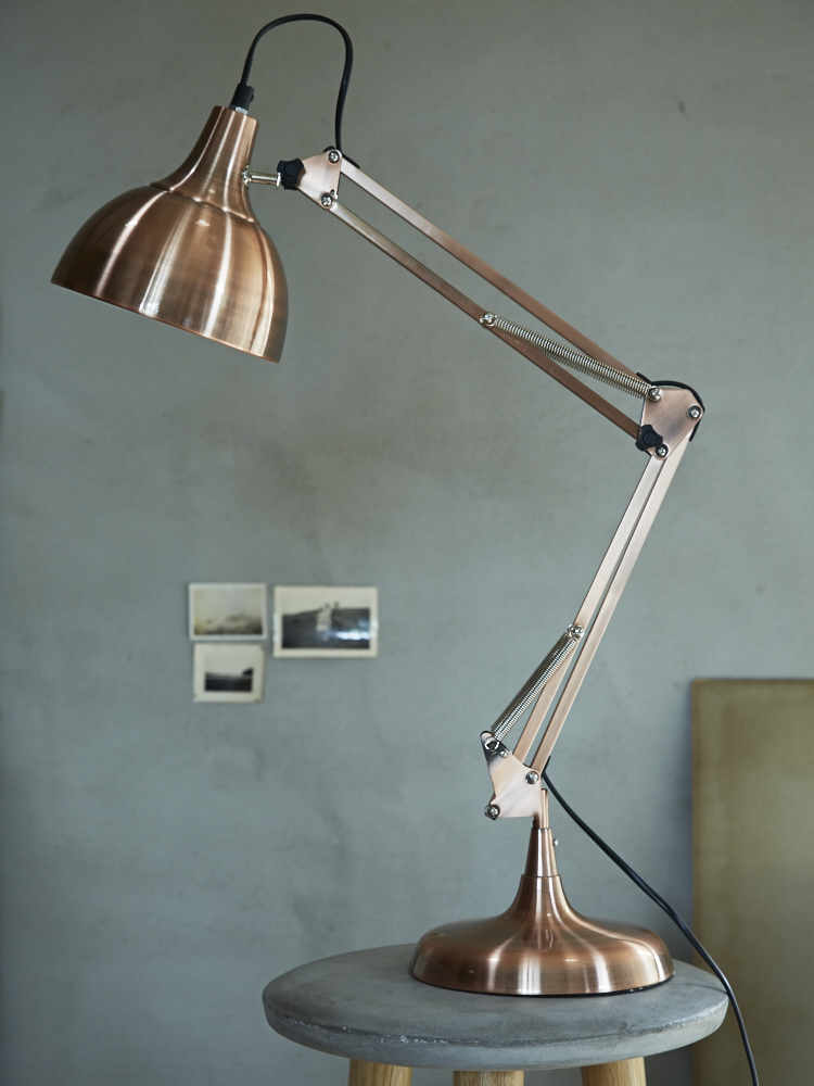 Tore desk lamp copper office interior pinterest desk lamp tore desk lamp copper aloadofball Image collections