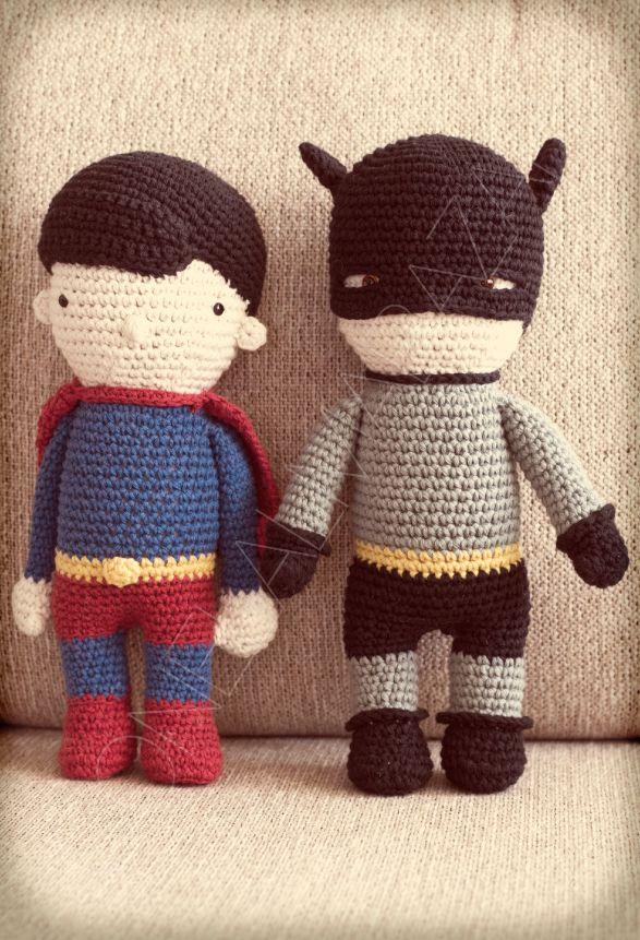 Superman & #Batman #superheroes | Amigurumis | Pinterest | Ganchillo ...