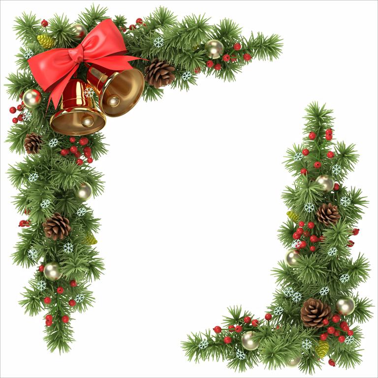 Window Jewellery for Christmas Beautiful Window Garland SILHOUETTE IMAGE