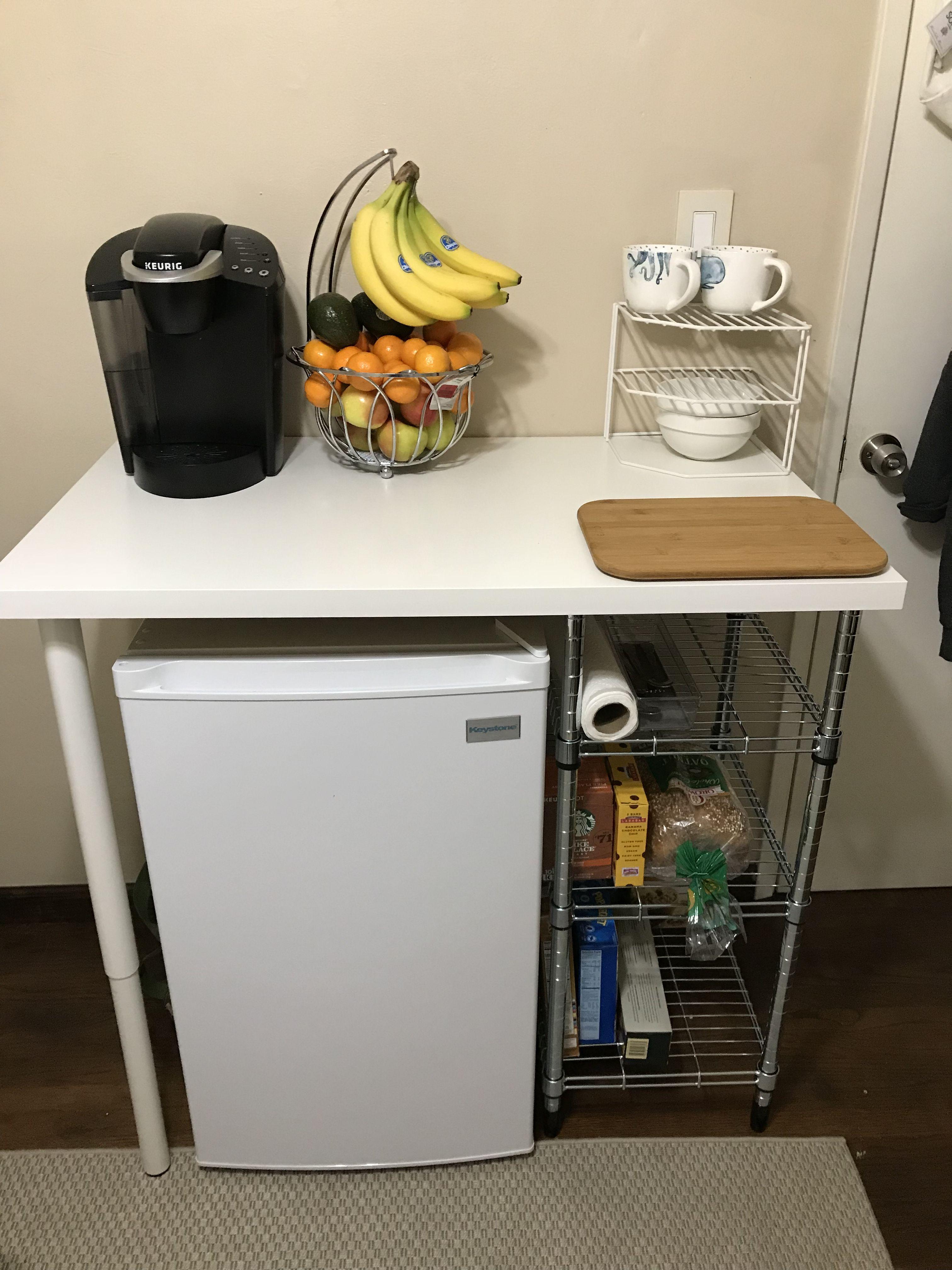 Mini Fridge Storage Idea Ikea Desk Top, Small Refrigerator Cabinet Ikea