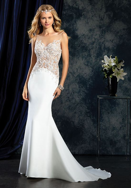 Alfred Angelo Sapphire Bridal Collection 403 Sheath Wedding Dress