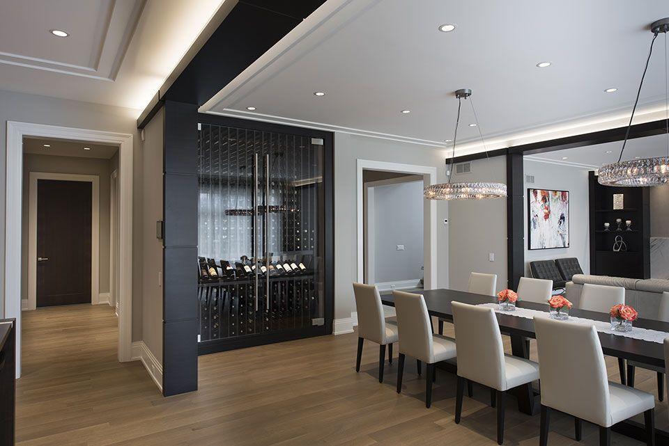 Room · Custom Wine Cellar - Dining ... & Custom Wine Cellar - Dining Room Custom Refrigerated Wine Cabinet ...