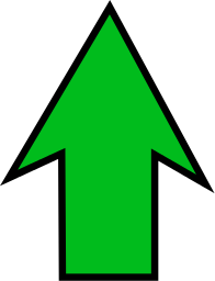 Image result for up green arrow icon