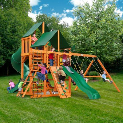 Gorilla Playsets Great Skye I Swing Set With Canopy Roof