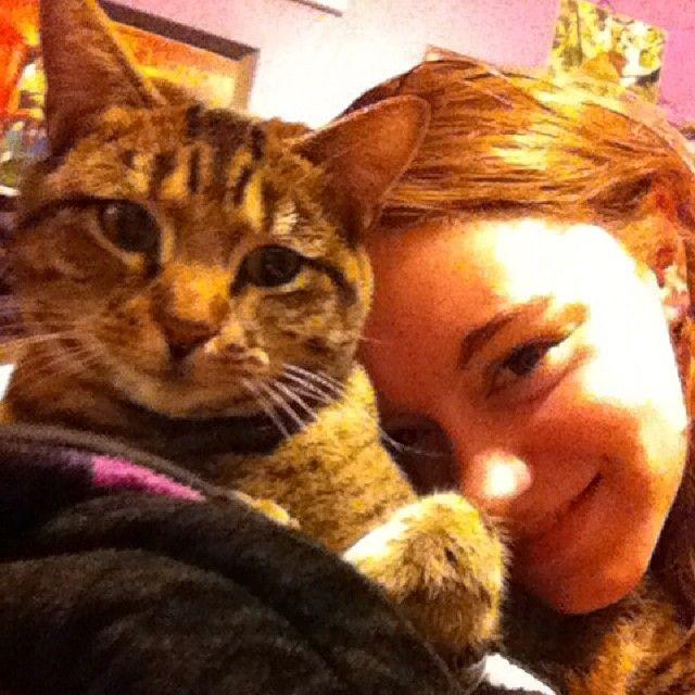 Selfie with my cat