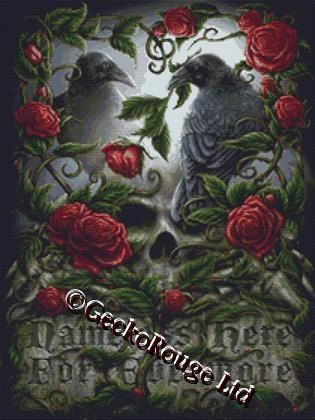 Modern Cross Stitch Kit By SheBlackDragon 'Sorrow For The Lost' - Gothic NeedleCraft Kit