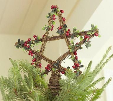 This Pentacle Tree Topper is from Pottery Barn but I'm sure you could DIY this: Go to Michael's ...