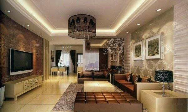 Interior Lighting Design Ideas Interior With Chandelier And Ceiling Spotlights With Images Ceiling Light Design Bedroom Lighting Design Lighting Design Interior