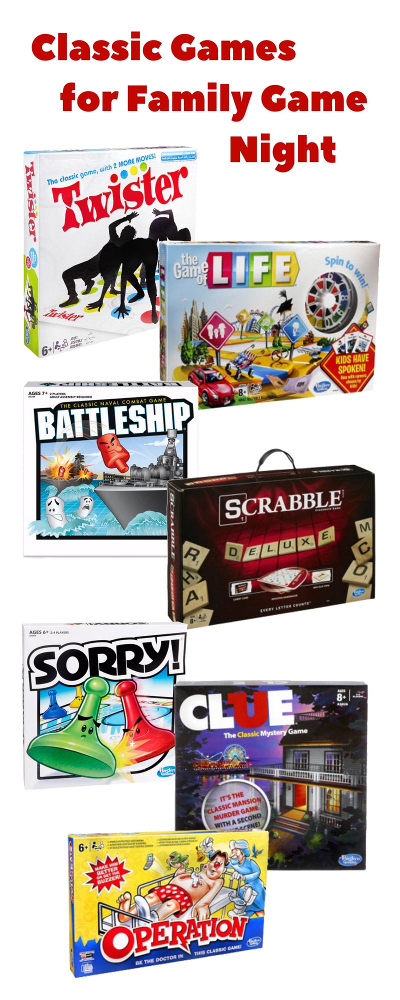 Enjoy family game night with these classic Hasbro board