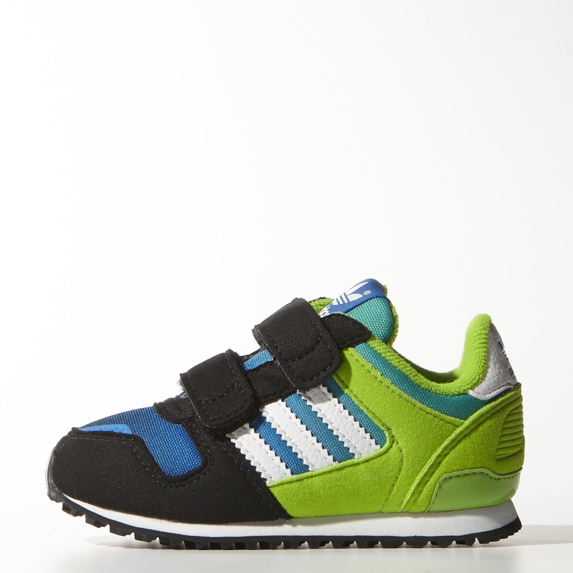 a0ed2de9c642b adidas ZX 700 CF I Infant Kids Shoes Black White Green Blue M25250 (SIZE   8K)