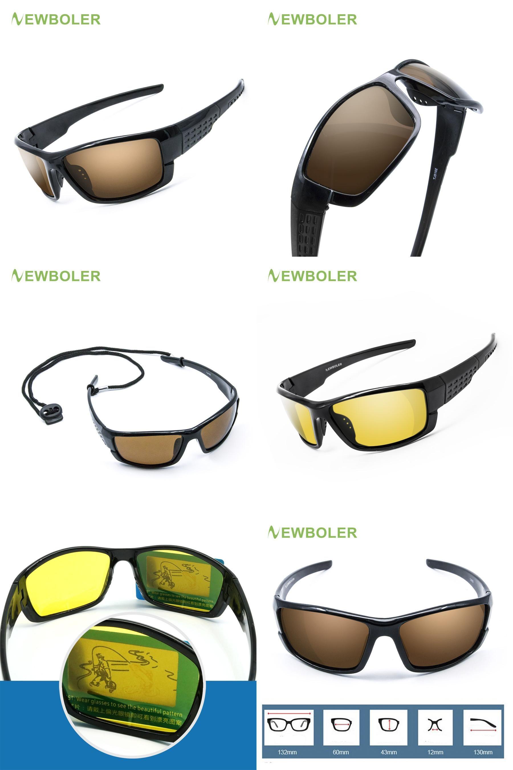 cb6d95f6551  Visit to Buy  NEWBOLER Polarized Fishing Sunglasses Brown Yellow Lenses  Night Version Men