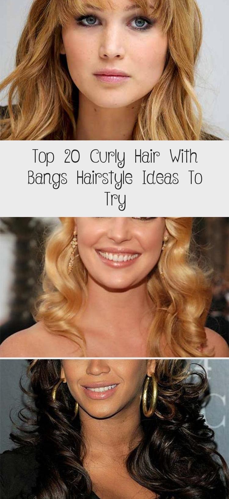 Top 20 lockiges Haar mit Pony Frisur Ideen zum