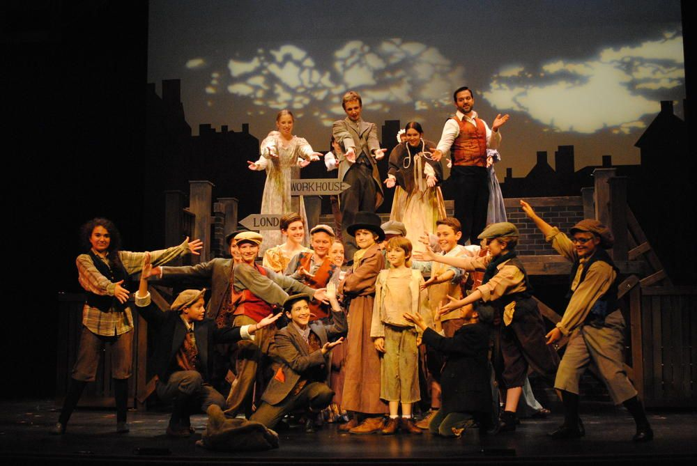 The Cast of Oliver! 2012. Photo by Abby LePage