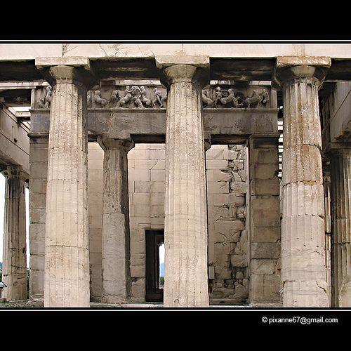 Grece Athenes Ancienne Agora Athenes Et Ancien