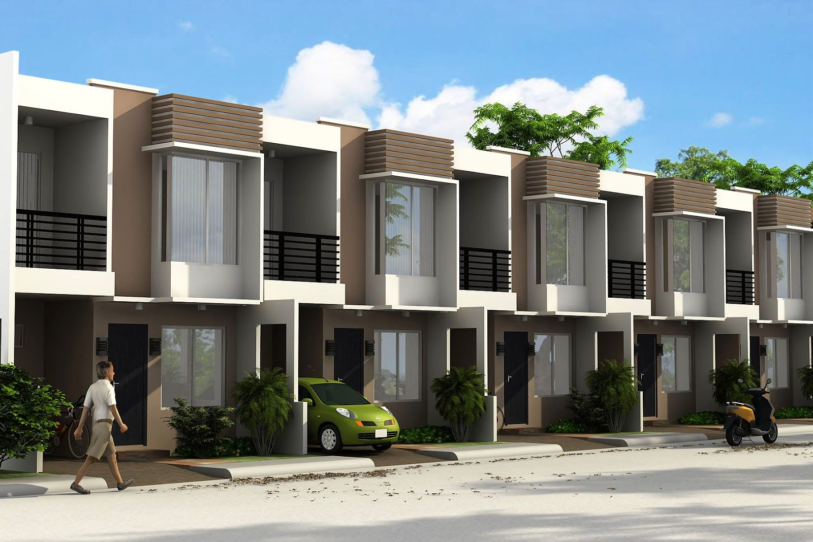 Philippines townhouse design google search house and for Townhouse architecture designs
